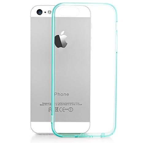 NALIA Funda Carcasa para iPhone SE 5 5S, Protectora Movil Transparente Silicona Ultra-Fina con TPU Bumper, Cubierta Cobertura Delgado Clear Cover Case ...