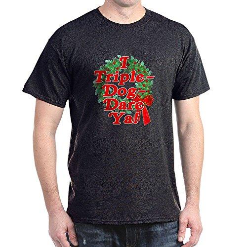 CafePress Triple Dog Dare A Christmas Story Dark T Shirt 100% Cotton T-Shirt ()