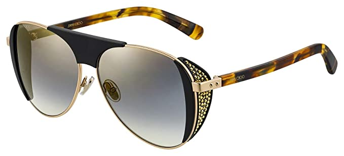 Gafas de Sol Jimmy Choo Rave/S Black Gold/Grey Silver Mujer ...