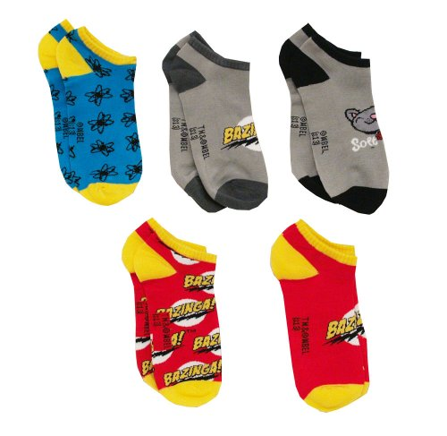 The Big Bang Theory 5 Pack Ankle Socks
