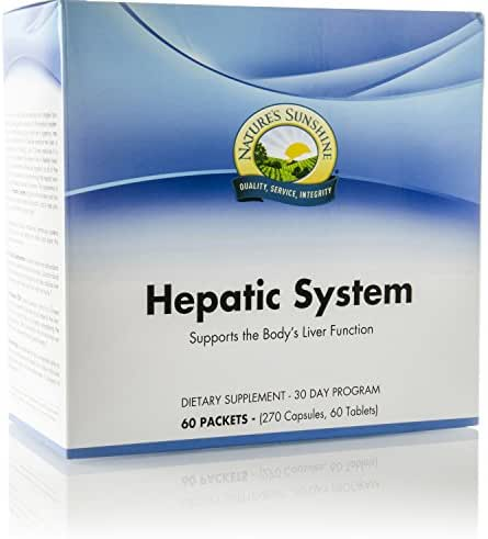 Nature's Sunshine Hepatic System, 30 Day Supply | Liver Support Supplement with Milk Thistle and Antioxidants to Cleanse and Protect Against Toxins