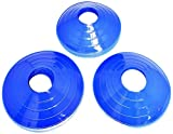 BlueDot Trading Disc Cones (12-Pack), Blue