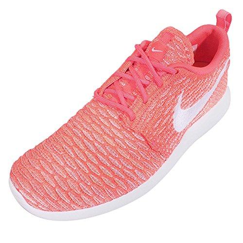 NikeRoshe Flyknit - Zapatillas de Running Mujer Hot Lava/White/Sunset Glow
