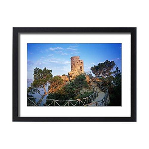 Media Storehouse Framed 24x18 Print of Spain, Majorca, Banyalbufar, Torre de Ses Animes (13523813) by Media Storehouse