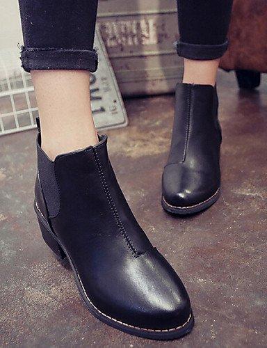 Robusto Marrón 5 Tacón us8 Uk4 Eu39 Semicuero Negro Botines Black Zapatos Uk6 Cn39 5 Cn37 5 Mujer Eu37 Botas Casual Xzz us6 Vestido Brown De 7 gpIKqP