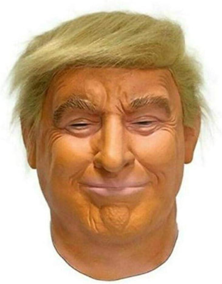 SNIIA Máscara De Donald Trump Halloween Protección del Medio Ambiente Sombrero De Látex Disfraz De Utilería De Rendimiento para Varios Festivales Teatros