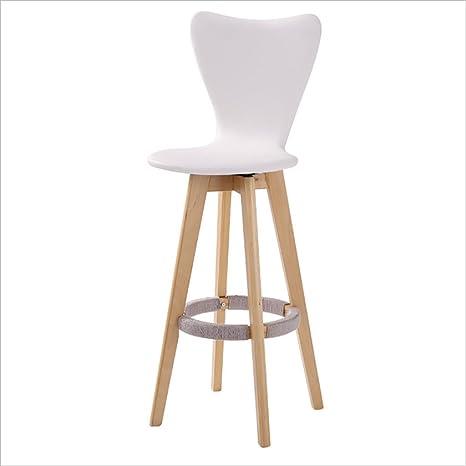 Sgabello bar sedia in legno massiccio Sedia Schienale Alto/sgabello ...