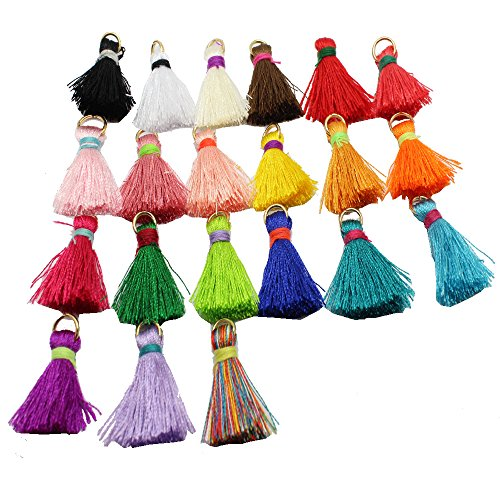 21pcs/lot 2.5cm(1'')Mini Tassels Tiny Short Silk Tassels DIY Craft Supplies Jewelry Tassels Chunky Tassel GD21ST137 (Silk Tassel)