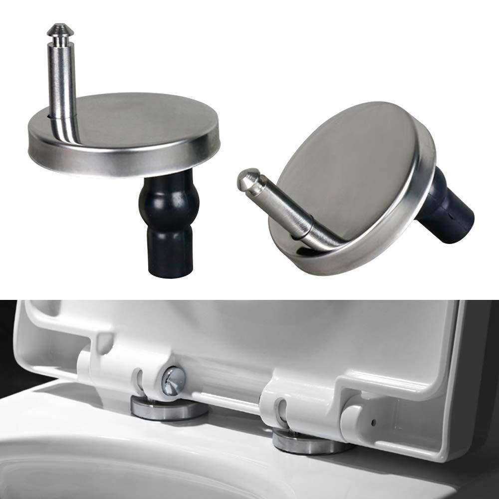 JJOnlinestore/ /Juego de 1/par de conectores de alta calidad para bisagras de asiento de inodoro ba/ño. oficina Desenganche r/ápido para hogar