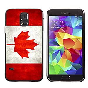 Flag Case Premium Cover - Samsung Galaxy S5 V SM-G900 / Canada Grunge Flag /