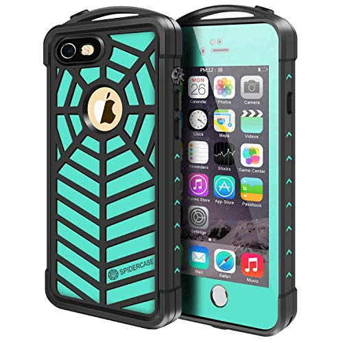 iPhone 5/5S/SE Waterproof Case,SPIDERCASE Full Body Protective Cover Rugged Dustproof Snowproof IP68 Certified Waterproof Case with Touch ID
