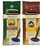 Teeccino Caffeine Free Organic Herbal Coffee 2 Flavor Variety Bundle, 1 each: Chocolate Maca, and Hazelnut (11 Oz. Each)