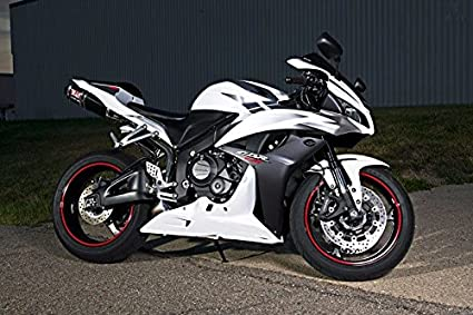 Amazoncom White Silver Black Fairing Injection For 2009 2012 Honda