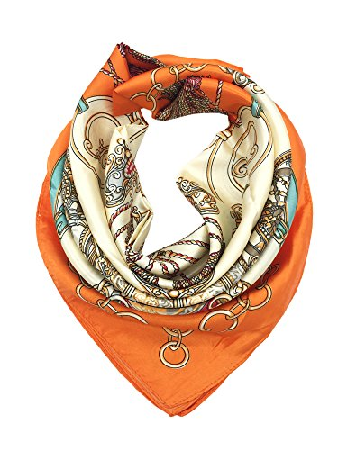 YOUR SMILE Silk Feeling Scarf Women