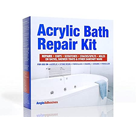 Acrylic Bath Repair Kit - Repairs Chips & Scratches - Colour Matched ...