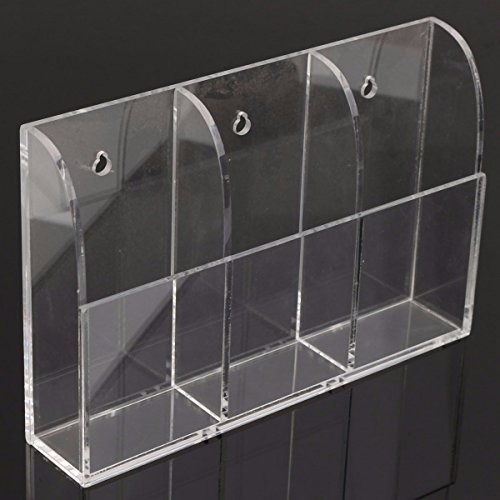 KINGSO Wall Mount 3 Tier Acrylic Remote Control Storage Holder Organizer by KINGSO