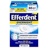 Efferdent PM Overnight Anti-Bacterial Denture Cleanser Tablets, 90 Count