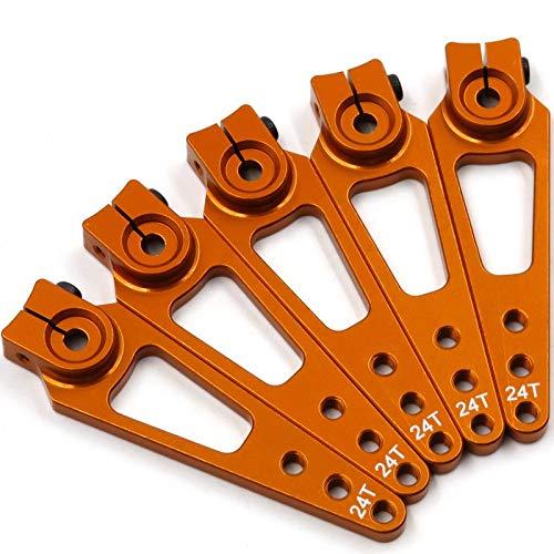 hobbysoul 5pcs 24T CNC Alum Alloy Servo Horn Arm 56mm Long for - Arm Alum Servo