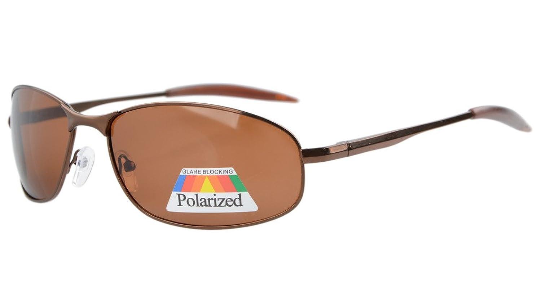 Eyekepper Metallrahmen Angeln Golf Radfahren Fliegen im Freien polarisierten Sonnenbrillen Braun m4p2863X