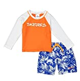 Skechers Boys' Little Swim Suit Set with Trunks and