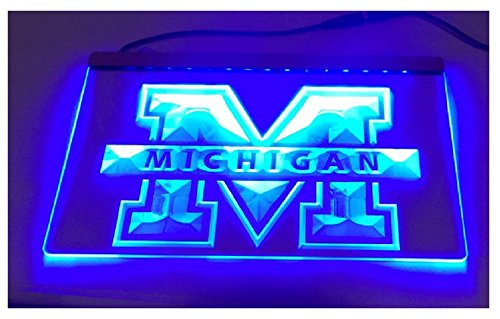 University of Michigan Sign, University of Michigan, University of Michigan light, Michigan Wolverines, Wolverines ()