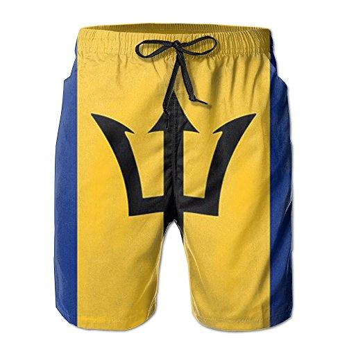 また明日ね盆失速バルバドスカナダの国旗 紳士のファッションと快適のビーチショーツ スイムショーツ メッシュインナー 通気 速乾 ビーチズボン 海水パンツ ショートパンツ