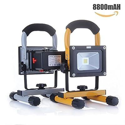 10W Work Light: LOFTEK Portable LED Outdoor Flood Light and Detachable 4400mAh Battery Charger, Waterproof, 700-900lm