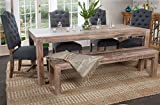 Kosas Home Harbor Dining Table, Hand-Distressed in Lime Wash Review
