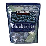 Kirkland Signature Sweetened Whole Dried Blueberries, 567g