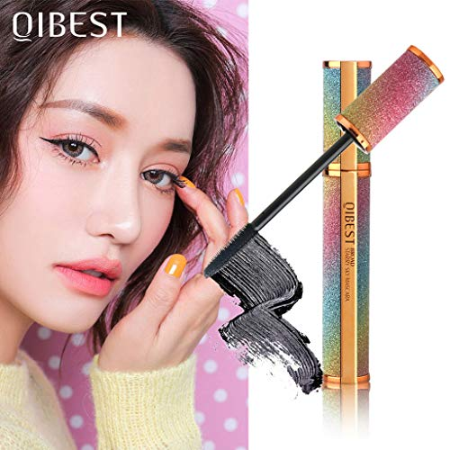 NOGOQU QIBEST Dream Lover Starry Black Mascara Waterproof Long Lasting Longer Thicker Voluminous Eyelashes 0.35 fl.oz