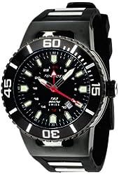 Torgoen Swiss Men's T23305 T23 Black 20 ATM GMT Dive Watch