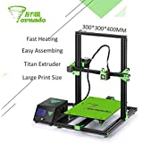 2017 New arrival TEVO Tornado 3D Printer Fully Assembled Aluminium Extrusion 3D printer part Impresora 3d High Precision With Titan Extruder