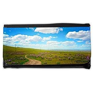 le portefeuille de grands luxe femmes avec beaucoup de compartiments // M00292547 Campo de flores florecientes del // Large Size Wallet