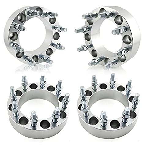 Orion Motor Tech 4pcs Wheel Spacers / Adapters for Dodge Ram 2500 3500 Ford F250 F350 - 8 Lug 8x6.5 / 8x165.1 - 2