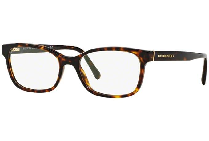 fd914d03147 Amazon.com  Burberry Women s Optical Frame Acetate Havana Frame Transparent  Lens Non-Polarized Glasses 52 0  Clothing