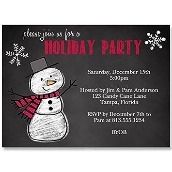 amazon com snowman holiday party invitations christmas winter