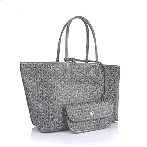 Bagcollector Fashion Shopping Shoulder Tote Bag Set(Grey) by bagcollector (Image #1)