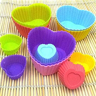 Cake Molds - 1pcs Specialized Love Heart Shape Soft Silicone Mould Candy Muffin Cup Cake Cakecup Cookie Cutter - Unicorn Graduation Cookie Game Love Oscar Knight Letters Shaped Flower Larg