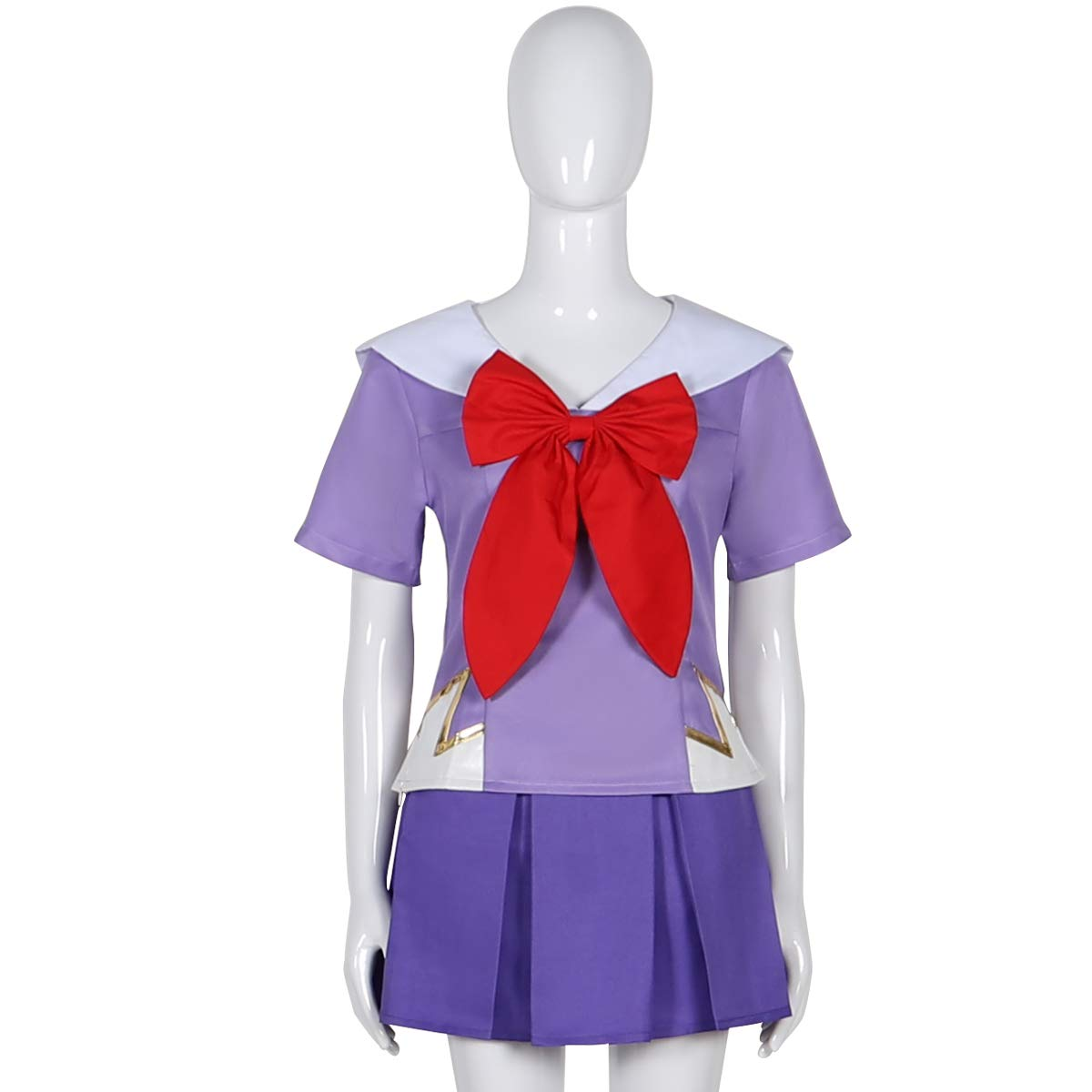 Womens Girls Future Diary Cosplay Mirai Nikki 2nd Gasai Yuno Uniform Costume