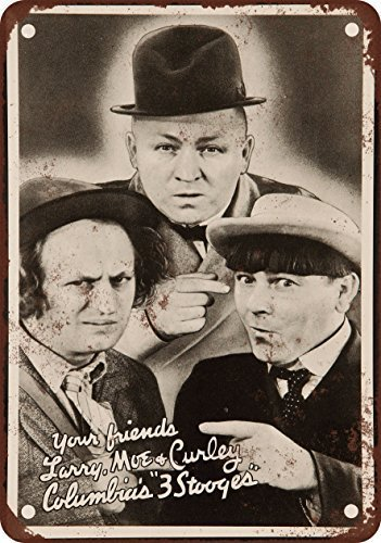 - DOPN 1936 Three Stooges Vintage Look Reproduction Metal Tin Sign 8x12 inches
