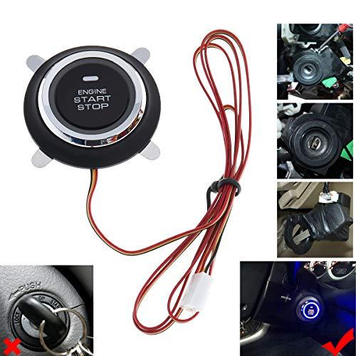 BANVIE Leather Key Auto Car Alarm Engine Push Button Start