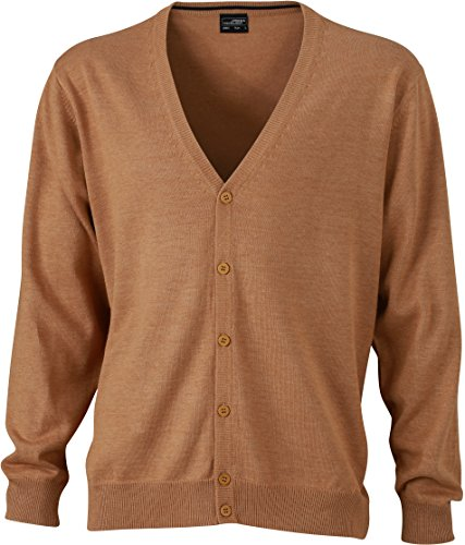 Cardigan V Cardigan Men's Men's Neck Camel V Neck with xIqqfYt