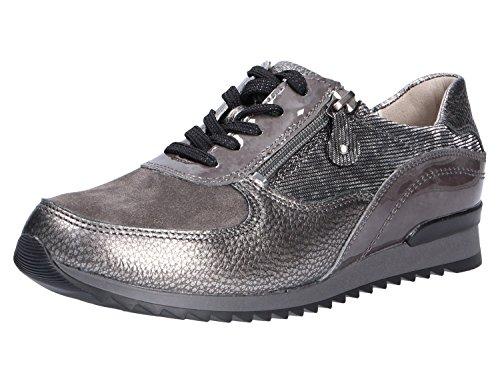 Waldläufer 370013-406-006 - Zapatos de cordones de Piel para mujer gris