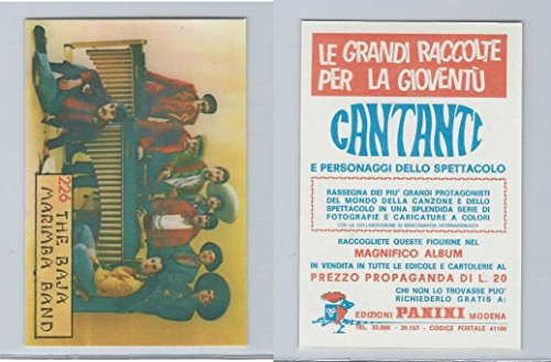 1968 Panini, Cantanti Music Artists Card, 226 Baja Marimba Band, (Artist Marimba)
