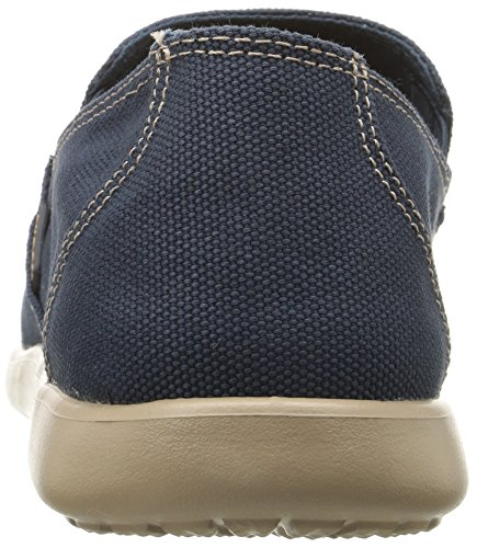 Crocs Santa Cruz Clean Cut - Mocasines hombre Blu (Navy/Tumbleweed)