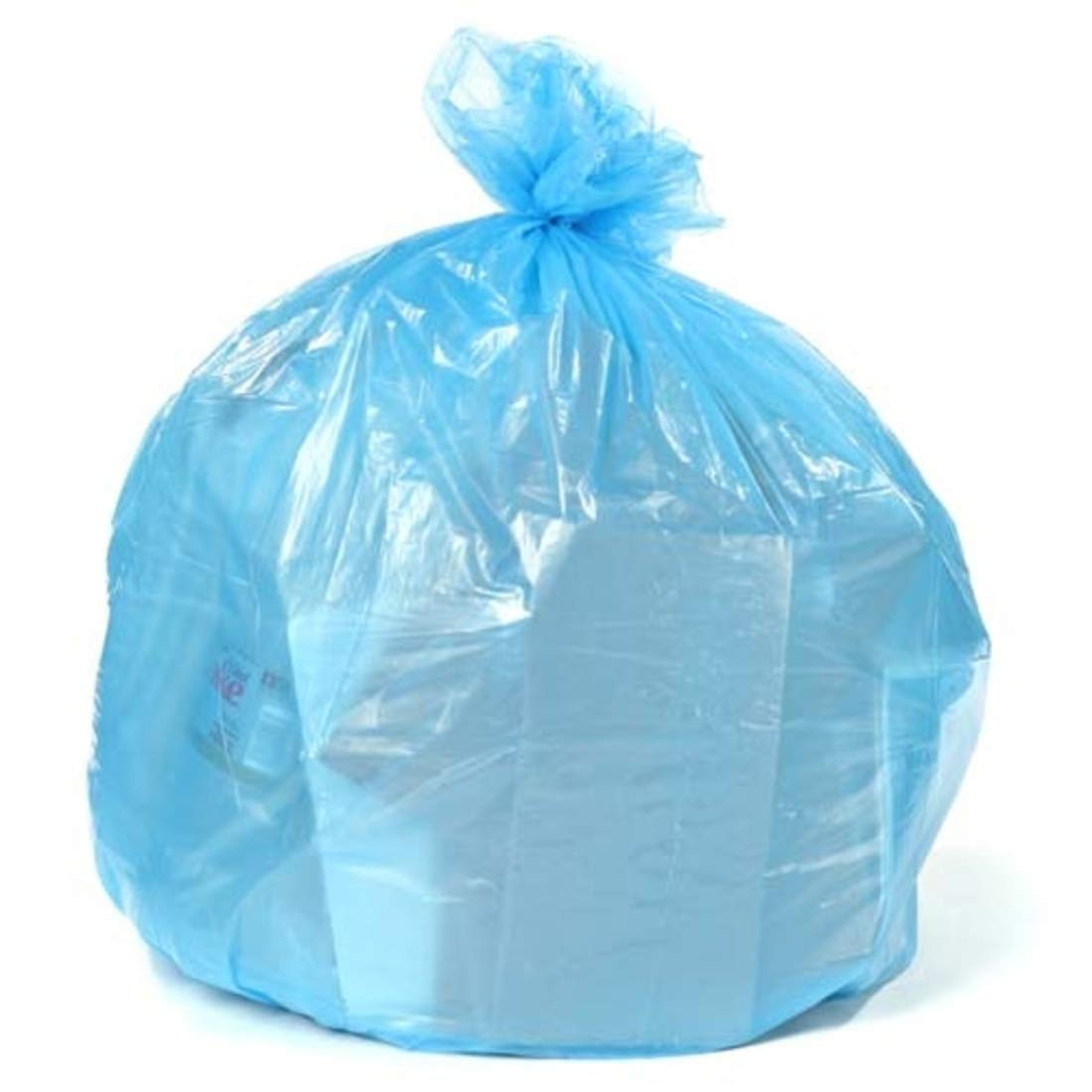 Blue Recyling Bags 38x55 55 Gallon 100/Case 1.2 Mil H-RBL55 by Plasticplace