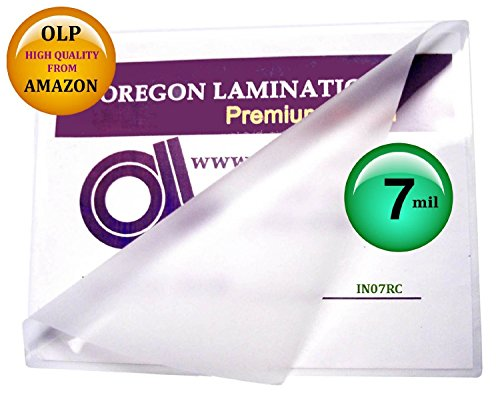 Usa Laminator - (Ship From USA) 7 Mil 6 x 9 Laminating Pouches Hot Laminator Sleeves Qty 100 / Only Oregon Laminations Offers Authentic Oregon Lamination Premium Laminating Pouches via AMAZON,High Clarity Glossy Fin