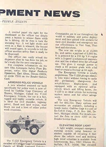 1974 Cadillac Gage V150 Police Armored Car Article (Armored Police)