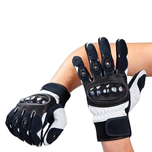 Lemoko Carbon Motorradhandschuhe Farbe schwarz/weiß Gr XXL