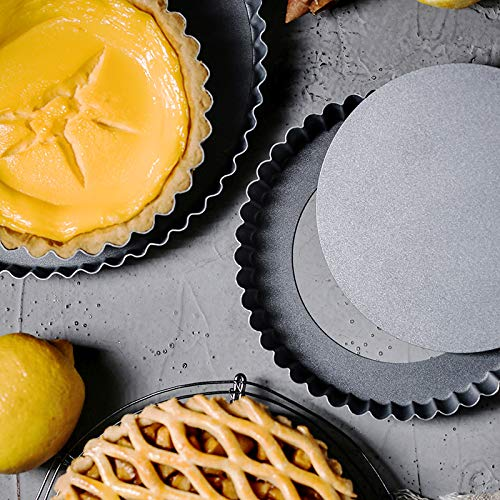 Non-Stick Removable Loose Bottom Quiche Tart Pan,Round Tart Quiche Pan with Removable Base,8-Inch by bingcheng (Image #7)